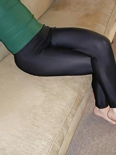 Sexy bitches dressed, teasing and stripping in tight, shiny and sexy spandex.