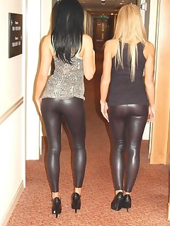 Hot overweight butt teens in yoga pants!