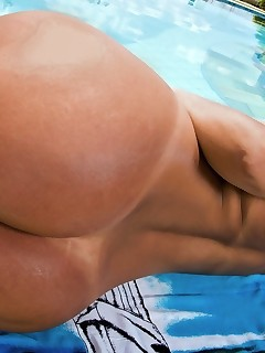 Darlene has a phenomenally giant rump. An giant ass so enormous, chubby and wet