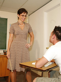 lascivious teacher with bubble booty