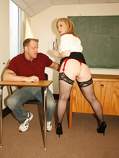 excited teacher fucked by her student