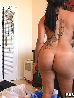 Juicy booty Cuban Lass Cleans And Gets Fucked!