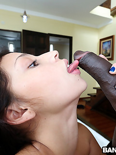 Petite Latin chick Takes Foot Lengthy Dark Cock!