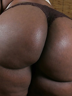 Darksome women with large bums
