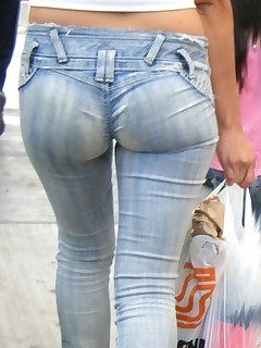 Large bum angels in jeans